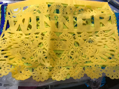 custom papel picado party bunting decorations WINNER by ARTMEXICO