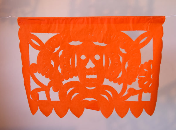 Mexican Day Of The Dead Bunting Halloween Decor | 5m/16ft Banner with 15 Small Flags