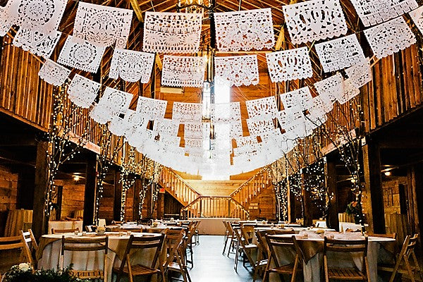 Mexican Wedding Decorations Papel Picado | 5m/16ft Traditional Handmade Mexican Wedding Decorations - ARTMEXICO