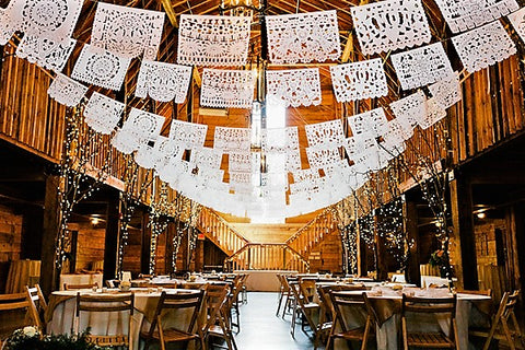 Mexican Wedding Decorations Papel Picado | 5m/16ft Traditional Handmade Mexican Wedding Decorations