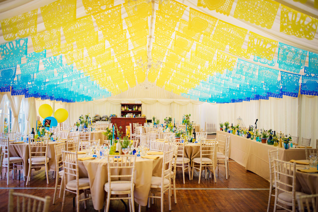 Personalised Mexican Wedding Papel Picado Decorations In Custom