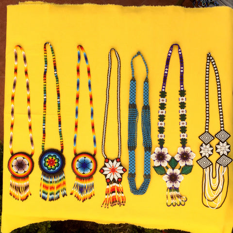 18 Wholesale Mexican Huichol Beaded Necklaces Unique Statement Jewellery - ARTMEXICO