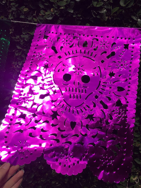Day Of The Dead Halloween Decorations | 4m/13ft Waterproof Papel Picado Banner with 10 Large Flags - ARTMEXICO