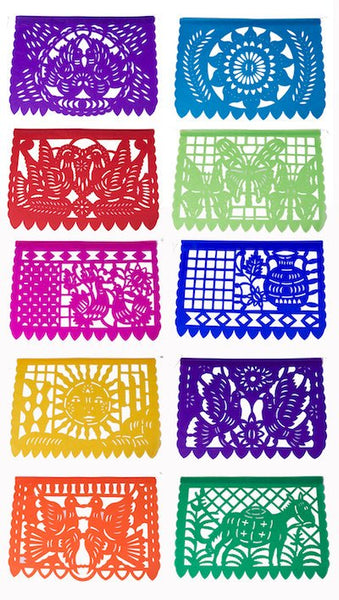 Mexican Papel Picado Banner | 5 meter (16ft) Garland with 10 Large Flags - ARTMEXICO