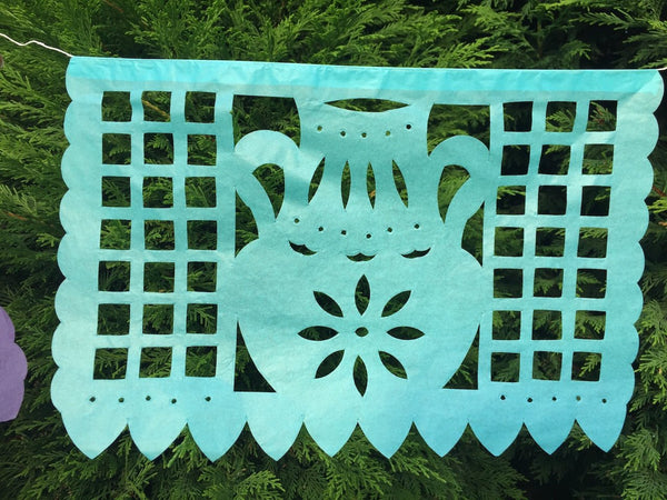 Baby Shower Garland Papel Picado Party Decorations 5m 16ft - ARTMEXICO