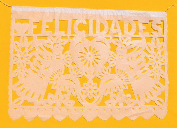 Mexican Wedding Papel Picado Custom Made Garland Lengths To Fit Your Venue Perfectly | Dreamy Elegant Wedding Reception Decorations
