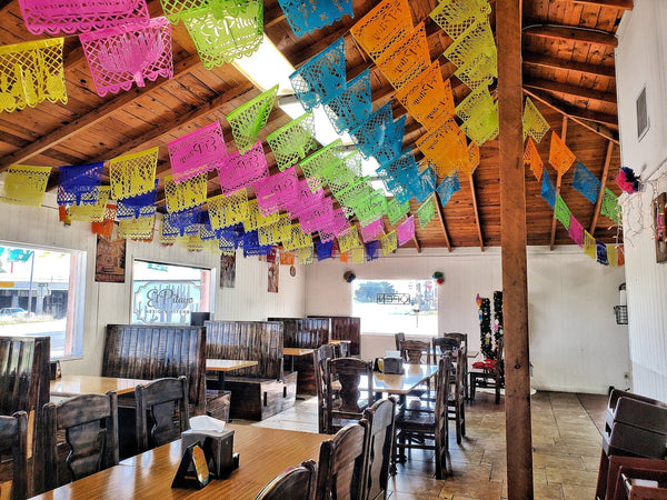 Mexican Restaurant Bunting Decor Custom Made Flags Made With Your Logo in Your Branding Colours - ARTMEXICO