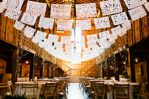 Mexican Wedding Decorations Papel Picado | 10m/32ft Traditional Handmade Mexican Wedding Decorations