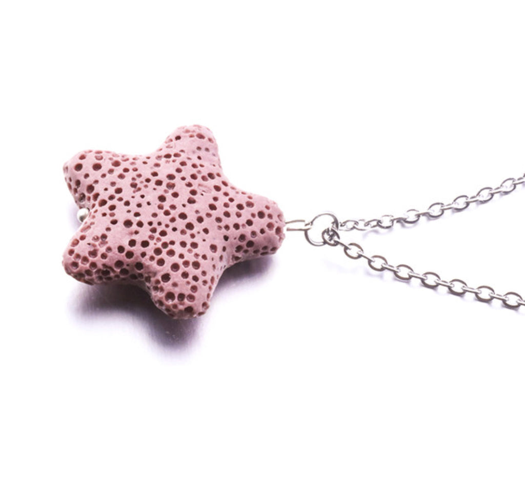 Necklace - Starfish Lava Stone