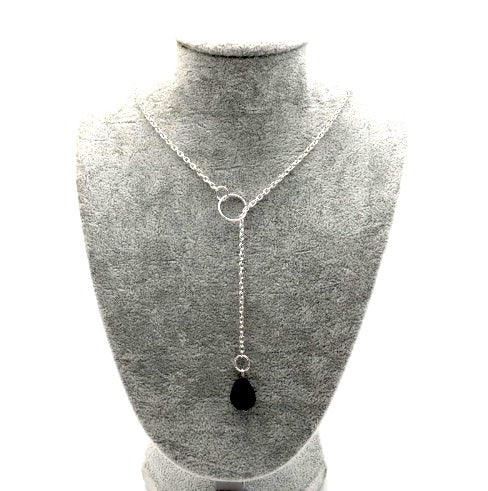 Necklace - Tear Drop Lava Stone