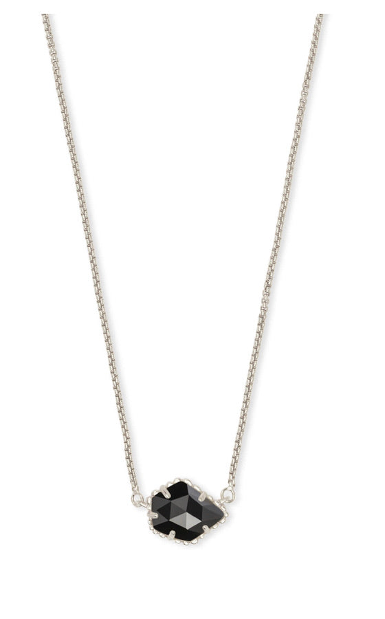 Kendra Scott Tess Necklace - Silver/Black