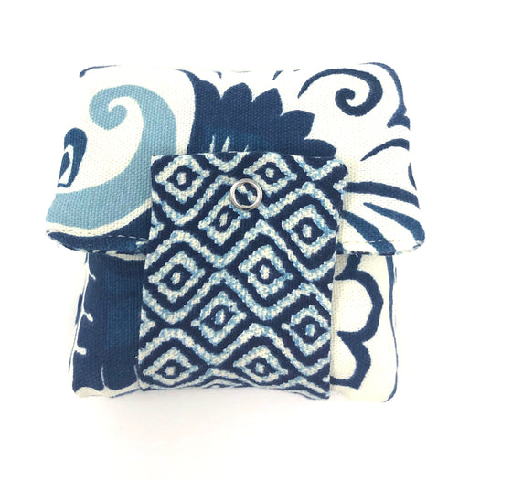 Roller Wallet (Navy White Design)