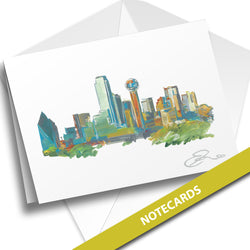 Dallas Skyline NOTECARDS
