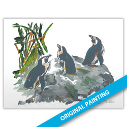 African Penguins — ORIGINAL PAINTING