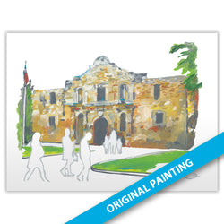 The Alamo, San Antonio — ORIGINAL PAINTING