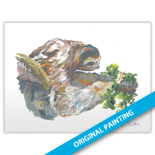 Brown-throated Three-toed Sloth — ORIGINAL PAINTING