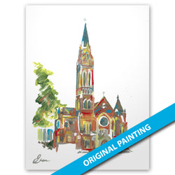 Cathedral Shrine of the Virgin of Guadalupe, Dallas — ORIGINAL PAINTING