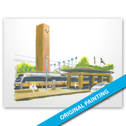 DART Rail Station, Fair Park, Dallas — ORIGINAL PAINTING