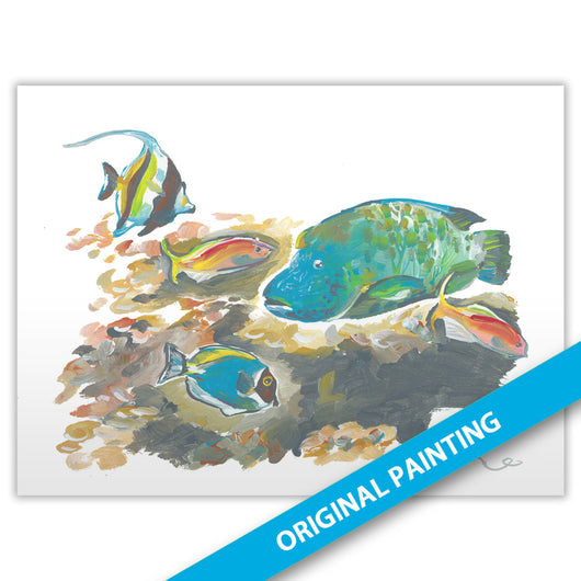 Sri Lanka Fish Tank — ORIGINAL PAINTING