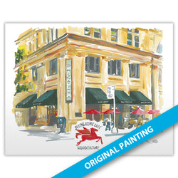 Flying Horse Cafe, Magnolia Building, Dallas — ORIGINAL PAINTING