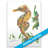 Lined Seahorse — ORIGINAL PAINTING