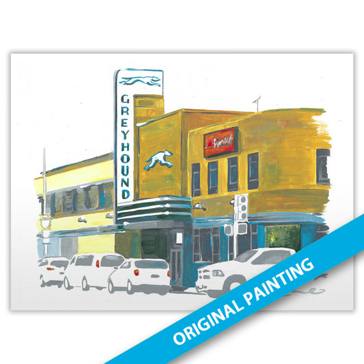 Greyhound Station, Dallas — ORIGINAL PAINTING