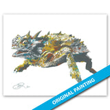 Horned Frog — ORIGINAL PAINTING