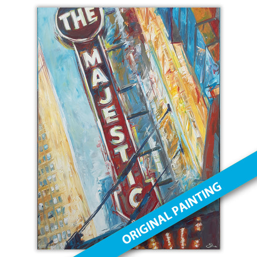 Majestic Theater — LARGE ORIGINAL PAINTING