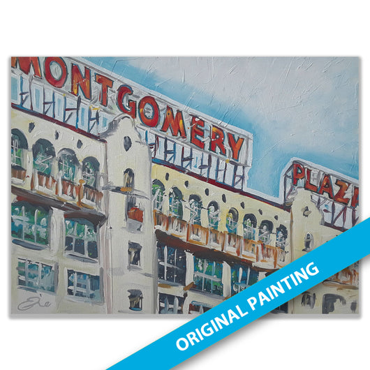 Montgomery Plaza, Fort Worth — LARGE ORIGINAL PAINTING