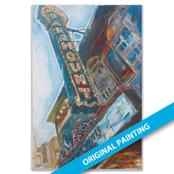 Paramount Theater — LARGE ORIGINAL PAINTING