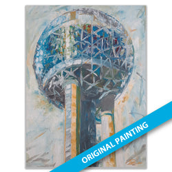 Reunion Tower, Dallas #2 — ORIGINAL PAINTING