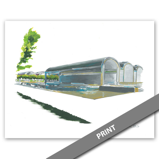 Kimbell Art Museum - Louis Kahn Building, Fort Worth — PRINT