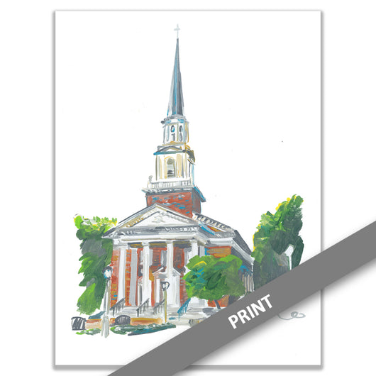 SMU, Perkins Chapel, Dallas — PRINT