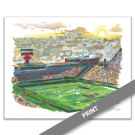 Jones AT&T Stadium, Texas Tech University, Lubbock, TX — PRINT