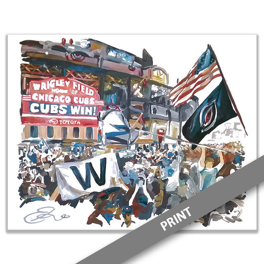 Wrigley Field, 2016 World Series Celebration, Chicago — PRINT