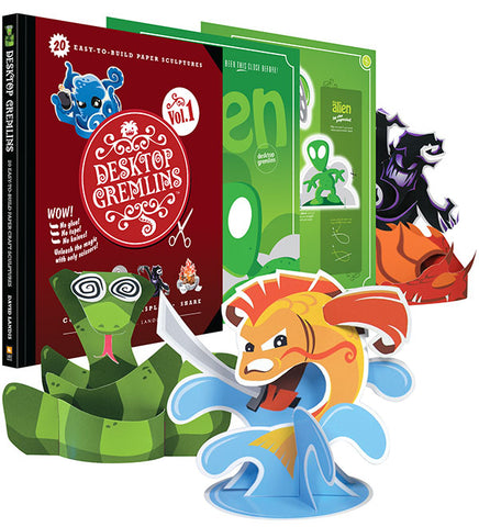 Desktop Gremlins Vol. 1 Papercraft Book