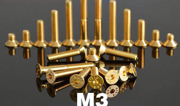 Anodised Alloy M3 Hex Screws, 10/Pack