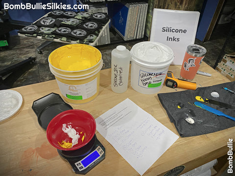 Screen Printing with Silicone Inks on Silkies