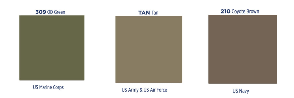 Military T-Shirt Color Chart