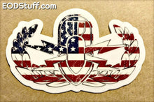 Grunge Flag EOD Badge Clear Stickers