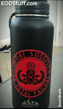 Initial Success or Total Failure Die Cut Stickers - Black and Red EOD Sticker