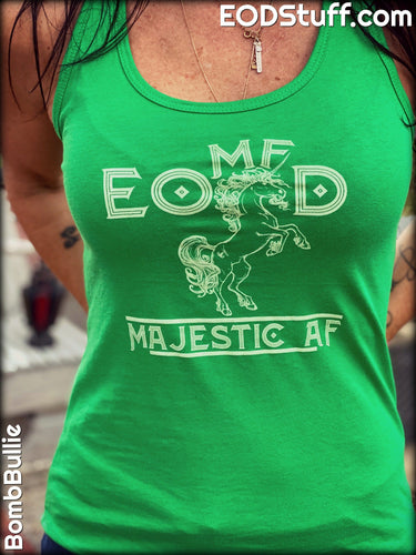 Ladies EOMFD Unicorn Majestic AF Tank Top - Ladies EOD Tank Tops