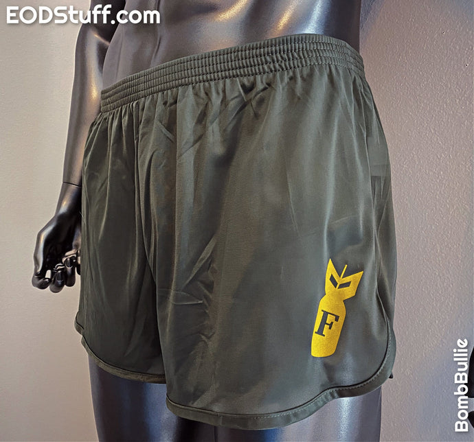 F-Bomb Silkies - Yellow Ink on Black, Navy, and OD Green Silkies - EOD Ranger Panties