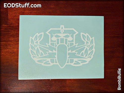 Outline HDT Badge Decal - EOD Vinyl Transfer Decal