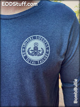Initial Success or Total Failure and Skuba Skeebb Long Sleeve EOD Shirt - White and Heather Navy