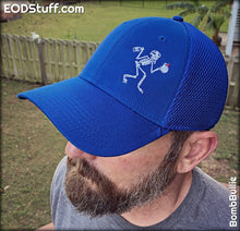 Skeebb Comfy Royal Blue Air Mesh Low Profile Hat - EOD Hats