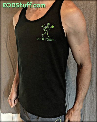 Lest Ye Forget - Initial Success or Total Failure Nuke Green EOD Tank Top