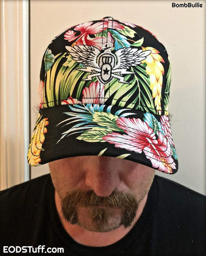 Never Forget EOD Hawaiian Pattern Law Profile Hat - EOD Hats