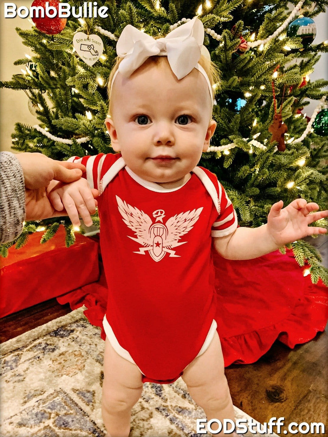 Never Forget EOD White and Red Baby Onesies - Baby EOD Onesie