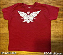 Never Forget EOD White and Red Toddler Tees - Toddler EOD Stuff